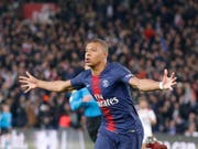 Youngster Kylian Mbappé ist Mann des Spiels für PSG (Bild: KEYSTONE/AP/MICHEL EULER)