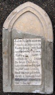Der Gedenkstein, der an die getötete Frida erinnert, steht heute nicht mehr am Tatort, sondern im Museum in Lichtensteig. (Bild: PD)