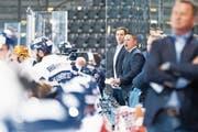 Auf Trainer Jason O'Leary (Zweiter von rechts) und das Academy-Team warten anstrengende Tage. (Bild: Roger Zbinden (Zug, 15. September 2018))