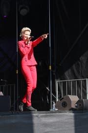 Marleen bei ihrem Auftritt an der Schlagerparade der diesjährigen Wega in Weinfelden. (Bild: Céline Hafner)