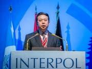 Nach der Festnahme des ersten chinesischen Interpol-Chefs Meng Hongwei wird über die Hintergründe spekuliert. (Bild: KEYSTONE/EPA INTERPOL/INTERPOL / HANDOUT)