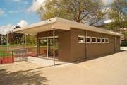 Der Mehrzweckpavillon auf der Sportanlage Ebnet wurde im vergangenen Sommer eingeweiht. (Bild: PD)
