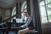 Bringt jugendliche Vitalität mit: Philipp Klahm leitet neu den Konzertchor Luzern. Bild: Dominik Wunderli (Luzern, 2. Oktober 2018)