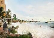 So könnte die künstliche Insel Lynetteholmen vor Kopenhagen dereinst aussehen. Visualisierung: PD