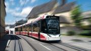 Eine Stadler-Strassenbahn des Typs Tramlink, wie sie im österreichischen Gmunden verkehrt. (Bild: PD)