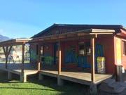 Im Pavillon auf dem Schulhaus Areal in Kerns wird am ehemaligen Standort des Jugendlokals «Willa » im März 2019 das Jugendbüro der Gemeinde errichtet.(Bild: PD)