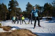 Teilnehmer des Jugendlanglauf-Lagers auf dem Glaubenberg. (Archivbild: Corinne Glanzmann)
