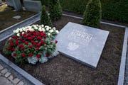 Das Grab von Konstanty Rokicki. (Bild: Urs Flüeler / Keystone (Luzern, 9. Oktober 2018))
