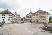 Ein grosses Investitionsvorhaben in Trogen ist die Neugestaltungs des Landsgemeindeplatzes. (Bild: Hanspeter Schiess (17. April 2017))