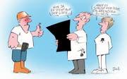 Karikatur zur Schwarzen Liste. (Bild: Archiv)