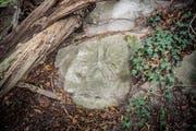 Der preussische Adler im Sandstein dürfte von einem deutschen Kriegsinternierten um 1917 geschaffen worden sein. (Bilder: Andrea Stalder)