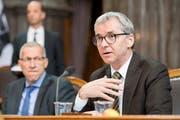 «Ein Mann aus der Innerschweiz hat seit Dienstag sicherlich bessere Karten», sagt der Obwaldner CVP-Ständerat Erich Ettlin. (KEYSTONE/Anthony Anex)