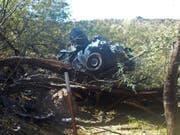 Die Frau kroch erst mehrere Tage nach dem Unfall im US-Bundesstaat Arizona aus dem Autowrack. (Bild: KEYSTONE/AP Arizona Department of Public Safety)