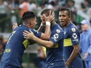 Die Boca Juniors treffen im Final der Copa Libertadores auf den Erzrivalen River Plate (Bild: KEYSTONE/EPA EFE/SEBASTIAO MOREIRA)