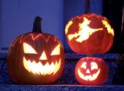 Halloween ist die Nacht des Gruselns. (Bild: KEYSTONE/Bernd Weissbrod)