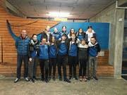 Die Flöser Delegation darf mit ihren Leistungen vom Wettkampf in Chur zufrieden sein. (Bild: PD)