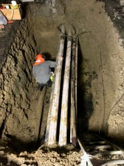 Elf Stunden dauerte die Reparatur der Wasserleitung. (Bild: PD)