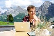 Blanca Imboden hat ihr Buch «Arosa» auch dort geschrieben - als Gast in einem Fünfsternehotel. (Bild: Jeremy Kunz)