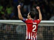 Atléticos Captain und Abwehrchef Diego Godin schiesst sein Team in der Nachspielzeit zum Sieg - trotz Muskelverletzung (Bild: KEYSTONE/EPA EFE/KIKO HUESCA)