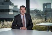 Guy Lachappelle wird neuer Präsident von Raiffeisen Schweiz und folgt damit auf Patrik Gisel. (Bild: Pius Amrein, 09. Oktober 2018)