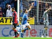 Fabian Ruiz schiesst für Napoli gegen Genoa das 1:1 und sorgt für die Wende (Bild: KEYSTONE/EPA ANSA/SIMONE ARVEDA)