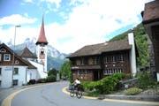 Blick aufs Bürgler Dorfzentrum: Trotz Minus im Budget 2019 spricht der Gemeinderat von einer gesunden Finanzlage. (Bild: Urs Hanhart, 4. Juni 2018)