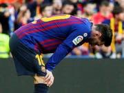 Trotz zwei Toren geknickt: Lionel Messi verliert mit Barcelona zuhause gegen Betis Sevilla (Bild: KEYSTONE/EPA EFE/QUIQUE GARCIA)