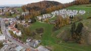 Am Hang oberhalb der Gleise des Apenzellerbahnen plant die Fortimo AG eine Überbauung mit vier Mehrfamilienhäusern. (Bild: Thomas Hary)