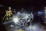 Die Freiwillige Feuerwehr Zug konnte das Feuer löschen. (Bild: Zuger Polizei)