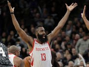 Ein frustrierter James Harden von den Houston Rockets (Bild: Keystone/AP/Eric Gay)