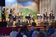 Berthold Schick und seine «Allgäu 6» boten Blasmusik auf höchstem Niveau. (Bild: Georg Epp, 10. November 2018)