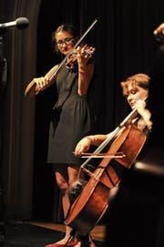 «Ils Fränzlis da Tschlin» bei einem Auftritt am «Alpentöne»-Festival in Altdorf. (Bild: Urs Hanhart (16. August 2015))