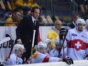 Die Schweizer Nationalmannschaft kassierte am Deutschland Cup zum Abschluss gegen Russland die erste Niederlage (Bild: KEYSTONE/GEORGIOS KEFALAS)