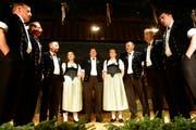 Die Berner Oberländer Formation ist bereits zum dritten Mal zu Gast im Toggenburg. (Bild: Rudolf Steiner)