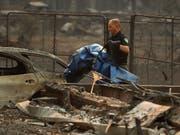 Das Feuer im Norden von Kalifornien bei Paradise ist das tödlichste, das je in der Geschichte des US-Staats verzeichnet worden ist. (Bild: KEYSTONE/AP/JOHN LOCHER)