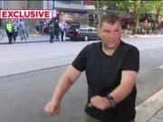 Stellte sich dem Angreifer in Melbourne mit einem Einkaufswagen entgegen: der 46-jährige Obdachlose Michael Rogers. (Bild: Channel 7/Screenshot)