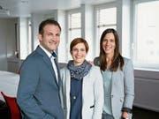 Walder-Chef Daniel Walder (37) mit seinen beiden Schwestern Sandra (36, Mitte) und Martina (34). (Bild: PD)