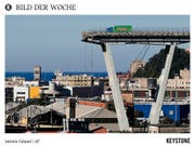 Die Reste der Unglücksbrücke in Genua sollen ab Mitte Dezember abgerissen werden. (Bild: KEYSTONE/AP/ANTONIO CALANNI)