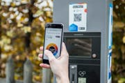 Über den QR-Code erfolgt die Bezahlung per Smartphone-App. (Bild: PD)