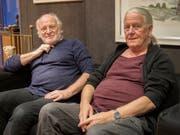 Die Künstler Walter Dick (links) und Hans-Jörg Studer. (Bild: Sascha Erni)