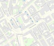 Im Bereich Winkelriedstrasse, Hirschengraben, Hirschmattstrasse und Stadthausstrasse sind die Parkplätze via App bezahlbar.