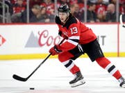 Nico Hischier left the ice of New Jersey Devils in the second, third third, third third third third quarter of the year (image: KEYSTONE / AP / JULIO CORTEZ)