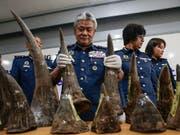 China will vorerst auf den Handel von Nashornhörnern und Tigerknochen verzichten. (Bild: KEYSTONE/EPA/FAZRY ISMAIL)