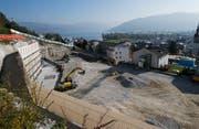 Für Haus G, das grösste Haus der Überbauung am Baumgarten, gilt weiterhin ein Baustopp.(Bild: Stefan Kaiser (Unterägeri, 22.Oktober 2018))