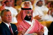 Der saudische Kronprinz Mohammed bin Salman, rechts, im Oktober in Riad. (Bild: AP Photo/Amr Nabil)