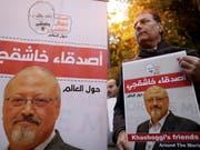 Eine Demonstration nach dem Tod des saudischen Journalisten Jamal Khashoggi. Die Wirtschaftskommission des Nationalrates hat nun beschlossen, die Beratungen zu einem Abkommen mit dem Land auszusetzen. (Bild: KEYSTONE/EPA/ERDEM SAHIN)