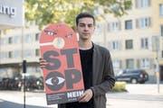 Dimitri Rougy, einer der vier Kampagnenleiter des Referendums gegen das Gesetz zur Überwachung von Versicherten. (Urs Flüeler/Keystone (Luzern, 17. September 2018)