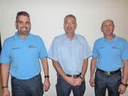 Michael Geisser, Beat Bollinger und Andreas Hasler bilden das Führungstrio der Feuerwehr Aadorf. (Bilder: Kurt Lichtensteiger)