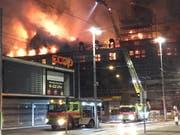 Schlagzeilen machte PSP Swiss Property zuletzt vor allem mit dem Brand einer Liegenschaft beim Zürcher Hauptbahnhof. (Bild: KEYSTONE/SCHUTZ UND RETTUNG ZUERICH)