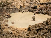 Bei Gold aus nicht industriell betriebenen Minen ist das Risiko von Menschenrechtsverstössen besonders gross. (Bild: KEYSTONE/AP Interpol/NICOLA VIGILANTI)